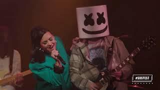Marshmello + Demi Lovato - OK Not To Be OK | Live from Troubadour (#SOSFEST)