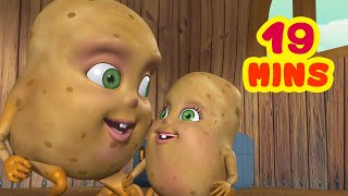 Aloo Kachaloo Beta Kahan Gaye The and much more | Hindi Rhymes collection for kids | Infobells