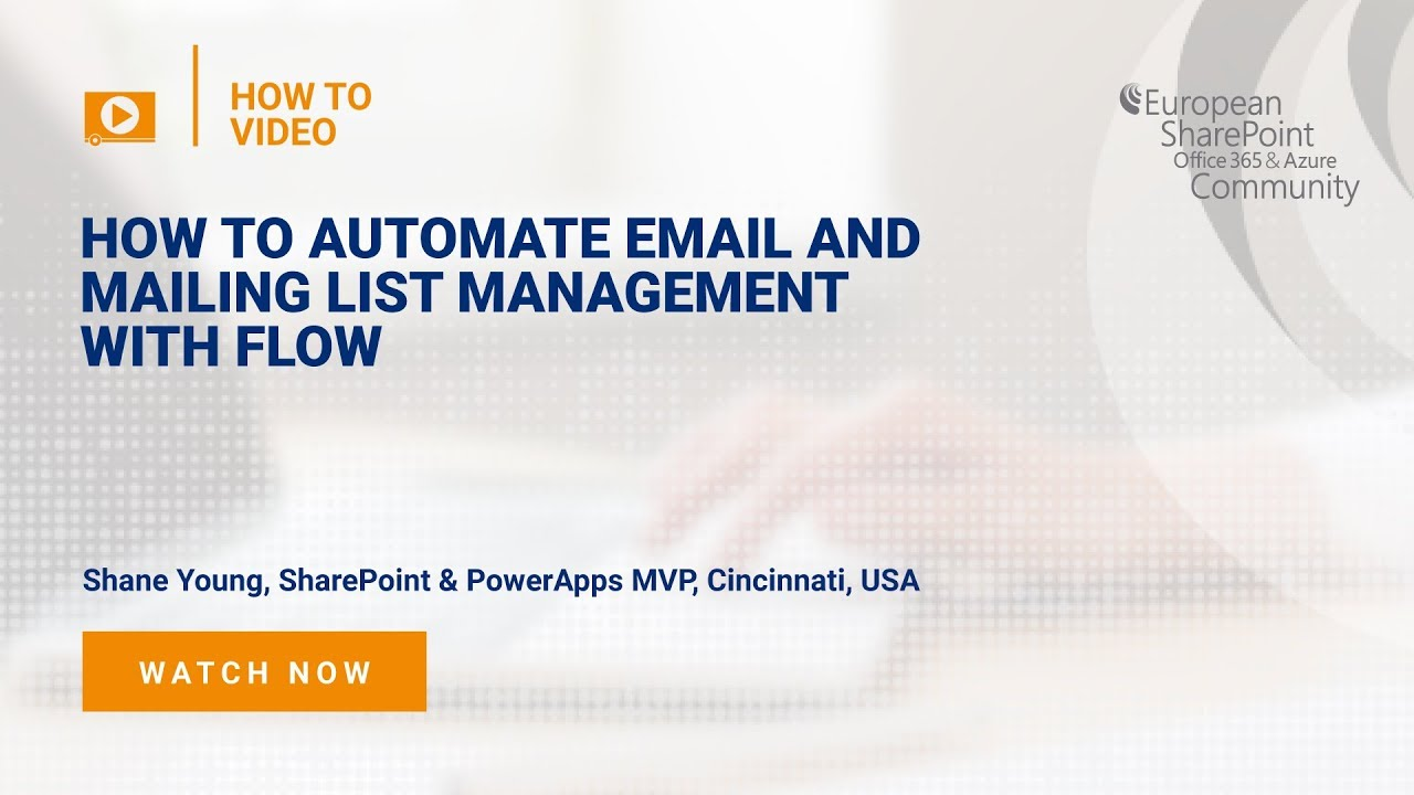 How To Automate Email and mailing list management with Flow