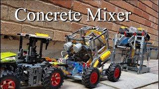 Concrete Mixer - Lego Technic 42054 Claas Xerion 5000 Trac VC