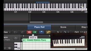 使用 MIDI 鍵盤一步步輸入音符