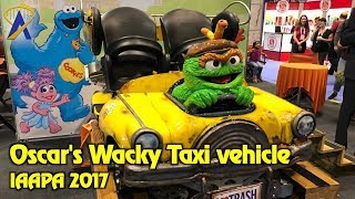 Oscar's Wacky Taxi ride vehicle reveal at IAAPA 2017 - coming to Sesame Place
