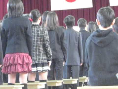 祥豊小学校卒業式2012-03-22