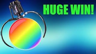 HUGE JUMBO CLAW MACHINE WIN! AMAZING! Arcade Games