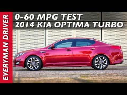 2014 Kia Optima Turbo 0-60 MPH Test