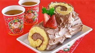 5-Ingredient Bûche de Noël (Last-minute Christmas cake idea) 材料5つで簡単!ブッシュ・ド・ノエル – OCHIKERON