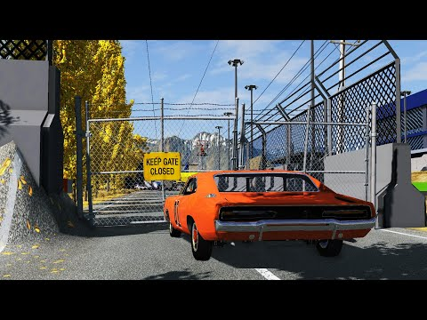 Massive Spike Strip Pile Up Crashes #2   BeamNG Drive | CrashTherapy