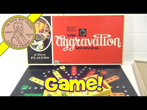 Aggravation Deluxe Party Edition Game No 8321, 1972 Lakeside Games