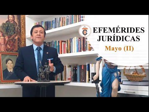 EFEMÉRIDES JURÍDICAS Mayo II -Tribuna Constitucional 145 - Guido Aguila Grados