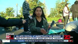 Chalk art on display at Via Arte Festival this weekend