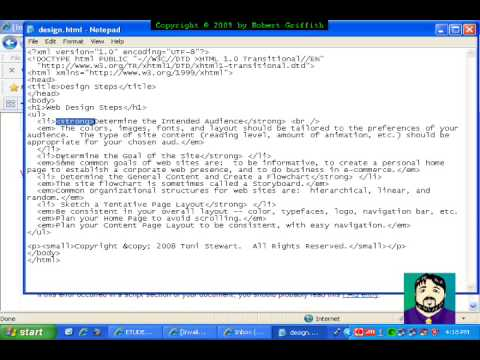 Web Page Design: Finding HTML Errors / Validating