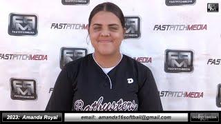2023 Amanda Royal 4.0 GPA - Catcher, Shortstop and First Base Softball Skills Video