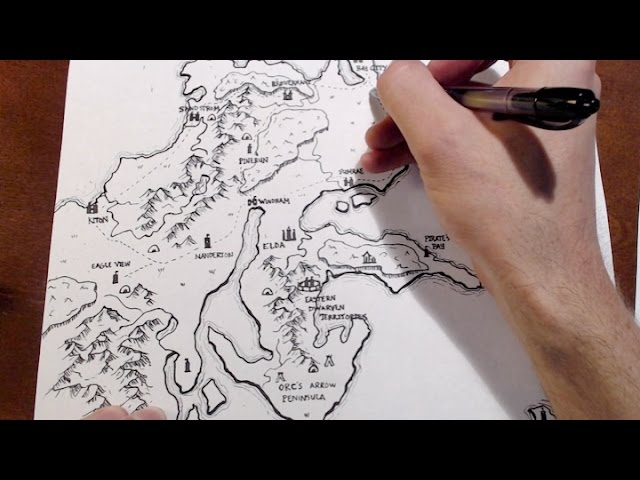 How to draw a map how to draw a cute strawberry mp3 downloads drawing a d d world map gumiabroncs Gallery