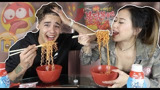 Spicy Noodle Challenge! (Ft Its Ricco Tho!)