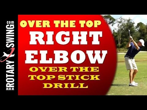 Over the Top Golf Swing Cure – Right Elbow Tip