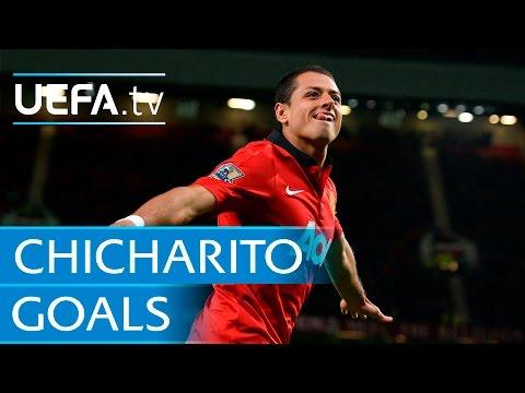 Los goles en Champions League de Chicharito Hernández