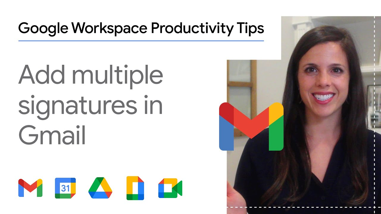 Trying to figure out how you can have multiple signatures in Gmail? In this episode of Google Workspace Productivity Tips, we show you how to do exactly this, so you'll never have to type an email signature out again!