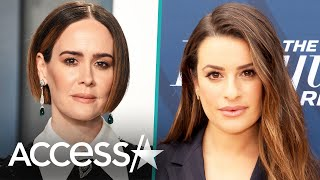 Sarah Paulson Expertly Dodges Lea Michele Question