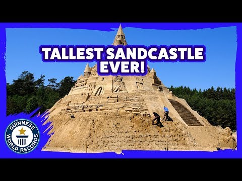 Building the Tallest Sand Castle Ever Made