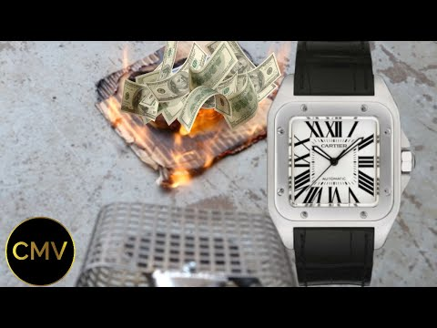 Burning My Cartier Watch (EXPENSIVE MISTAKE?)