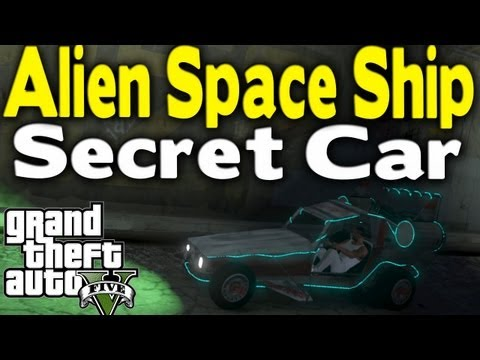 GTA 5 - SECRET ALIEN SPACE SHIP CAR (How To Get / Tutorial) (Rare Car Guide #4) [GTA V]