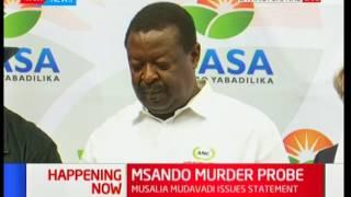 Musalia Mudavadi gives a press briefing, Msando murder probe