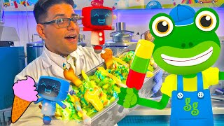 Gecko Visits The Ice Cream Factory   Geckos Real Vehicles   Ice Cream Truck For Children