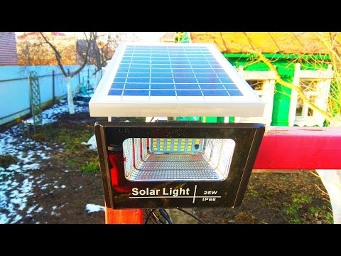 Светодиодный прожектор на солнечной батарее / Solar led floodlight