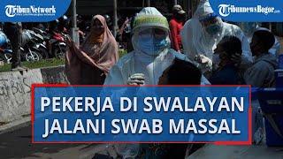 Ada Kasus Pegawai Positif Corona, Karyawan Swalayan di Kota Bogor ini Jalani Swab Test Massal