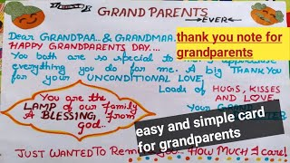 What to write in grandparents day card