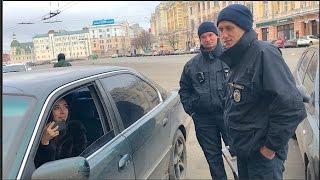 Брюнетка на BMW поимела Полицию 2:0