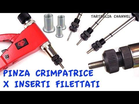 Conoscere la Pinza rivettatrice per inserti filettati - tartaglia channel