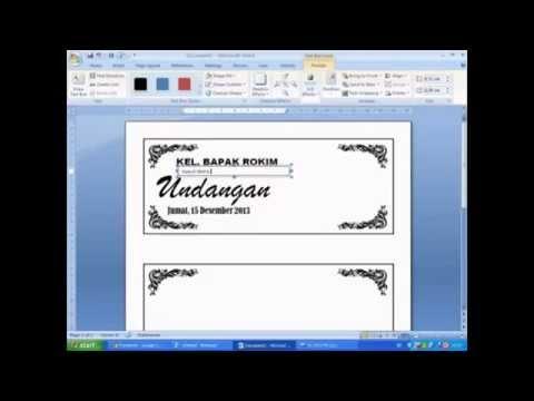 Video Cara membuat undangan berbingkai dengan microsoft word
