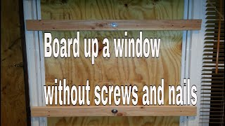 how to board up a window or door - easy and best way