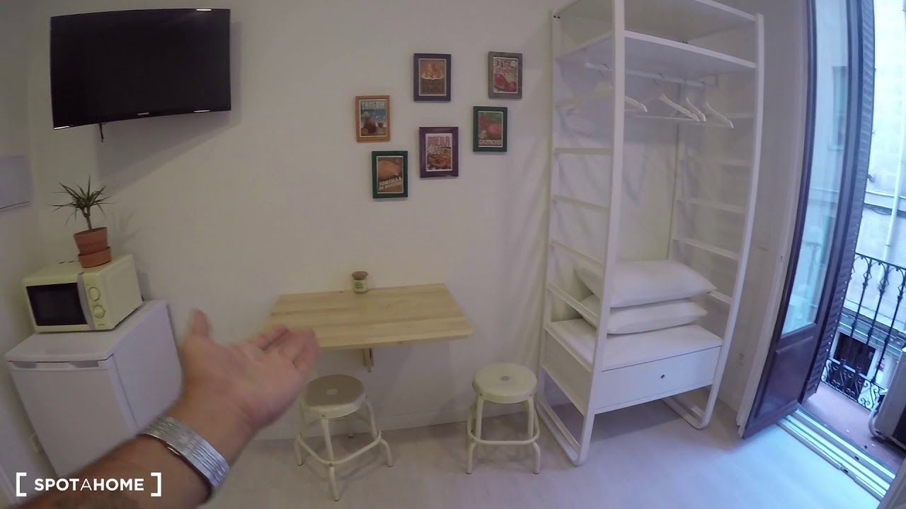 Newly renovated studio apartment for rent in the Malasaña