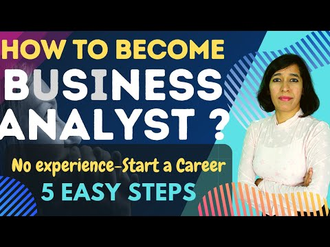 How to become a Business Analyst with no experience | 5 Steps to become Business Analyst | Free book