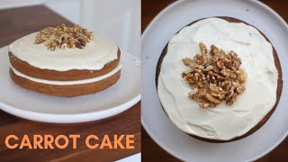 how to make carrot cake with plain flour