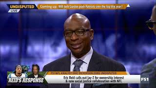 UNDISPUTED - Eric Dickerson talk in depth about Eric Reid calls out Jay-Z for NFL team ownership