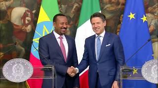 Dichiarazioni alla stampa del Presidente Conte con il Primo Ministro etiope Abiy Ahmed Ali