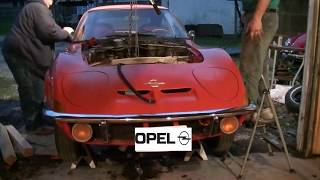 Opel GT Engine Removal