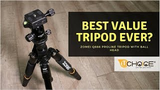 Best value tripod ever ? ZOMEI Q666 Proline Tripod with Ball Head Review