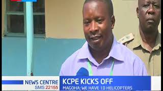 KCPE candidates in Kakamega county commence the exam without any hitches