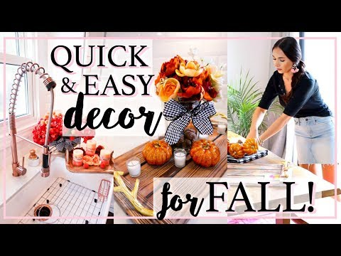 FALL DECORATE WITH ME 2018! | THE BEST CUTE AND EASY HOME DECOR IDEAS! | Alexandra Beuter
