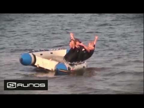 Надувная лодка с алюминиевым дном Runos Surf RY-B400K PVC, 4 м