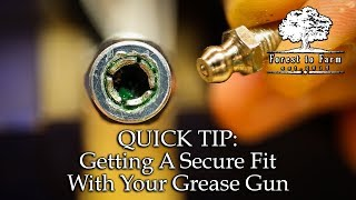 Getting A Secure Fit With Your Grease Gun