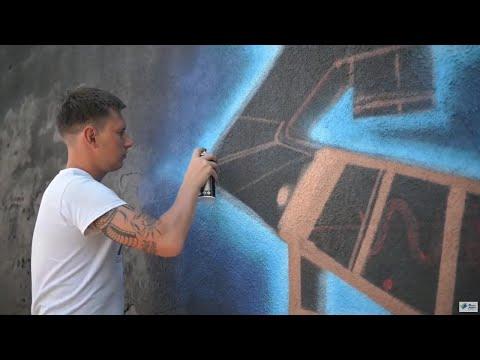 Стріт-арт фест Lutsk WallKing: наживо - YouTube