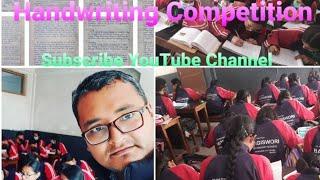 Handwriting Competition 2021,Bagiswori Secondary School,Chyamasingh,Bhaktapur