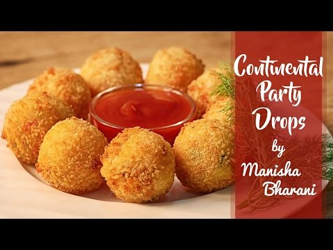 Continental Party Drops – Quick Cheesy Crispy Party Starter/ Snack – Appetizer Recipe