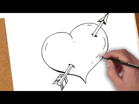 كيفية رسم القلب