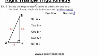 Right Triangle Trigonometry - Trigonometric Ratios